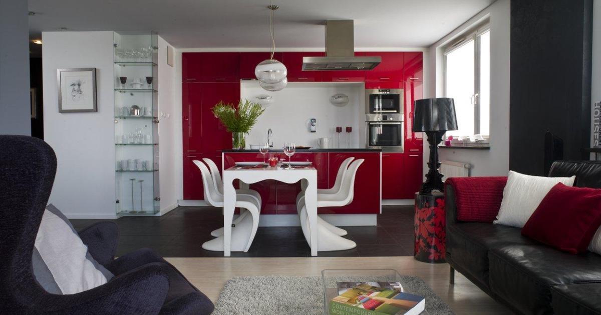 Kuchnia z salonem nowoczesne meble i kolory ścian  strona 3 -> Kuchnia W Bloku Kolory Ścian