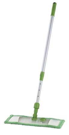 Mop płaski z mikrofibry – uniwersalny zielony JAN NIEZBĘDNY