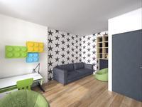 Projekt pokoju młodzieżowego - aranżacja wnętrza dla studenta