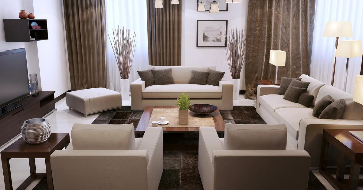 Projekt salonu nowoczesny wystr j wn trz for Decoration simple pour salon