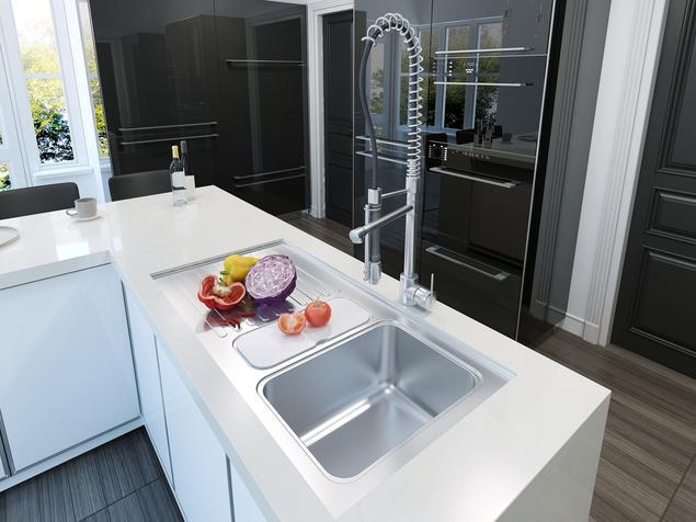 Zobacz galerię zdjęć Biało czarna kuchnia i wyspa kuchenna   -> Kuchnia Bialo Czarna Galeria