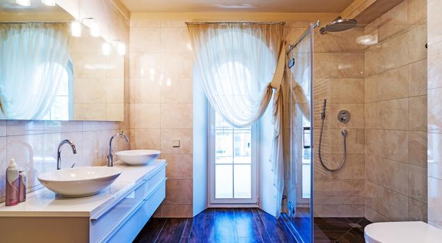 pomys na azienk z prysznicem. Black Bedroom Furniture Sets. Home Design Ideas
