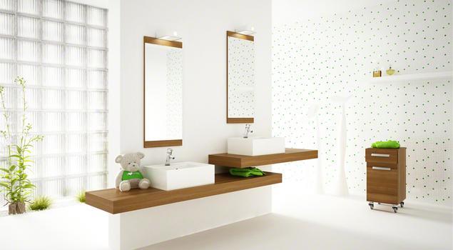 Noclaf Cambio. Nowoczesna aranżacja łazienki. Biała łazienka pełna światła