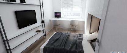 Projekt mieszkania w Katowicach - sypialnia